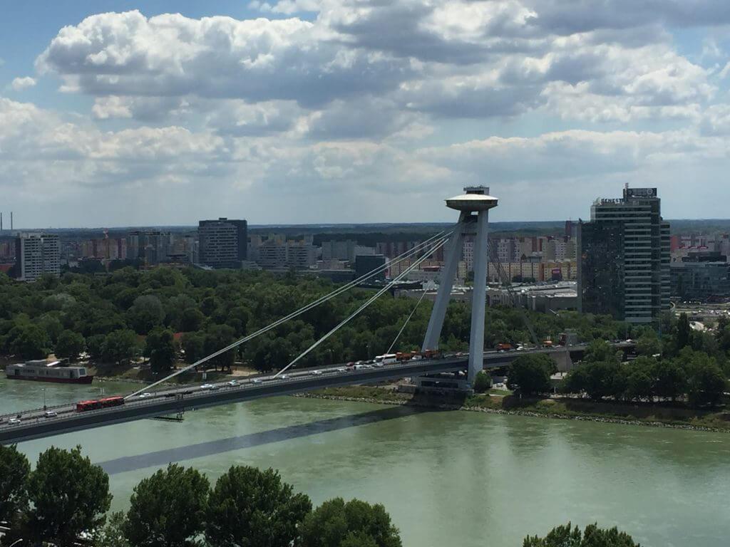 Visiting Bratislava UFO Bridge