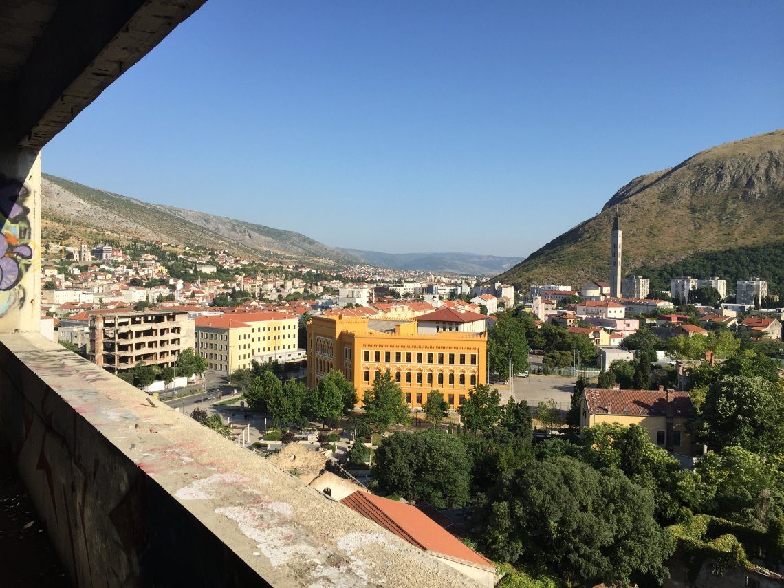 Climbing Sniper Tower in Mostar