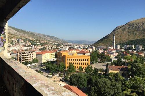Climbing Sniper Tower in Mostar