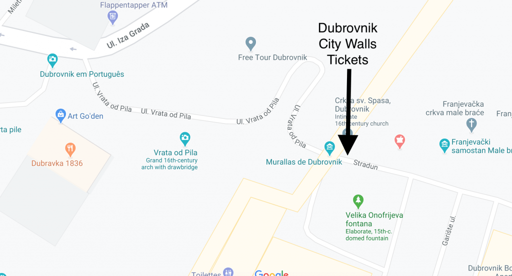 Dubrovnik City Walls Tickets