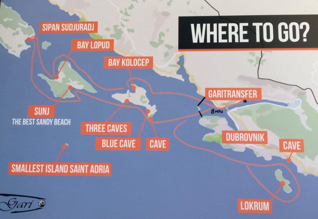Dubrovnik Boat Map