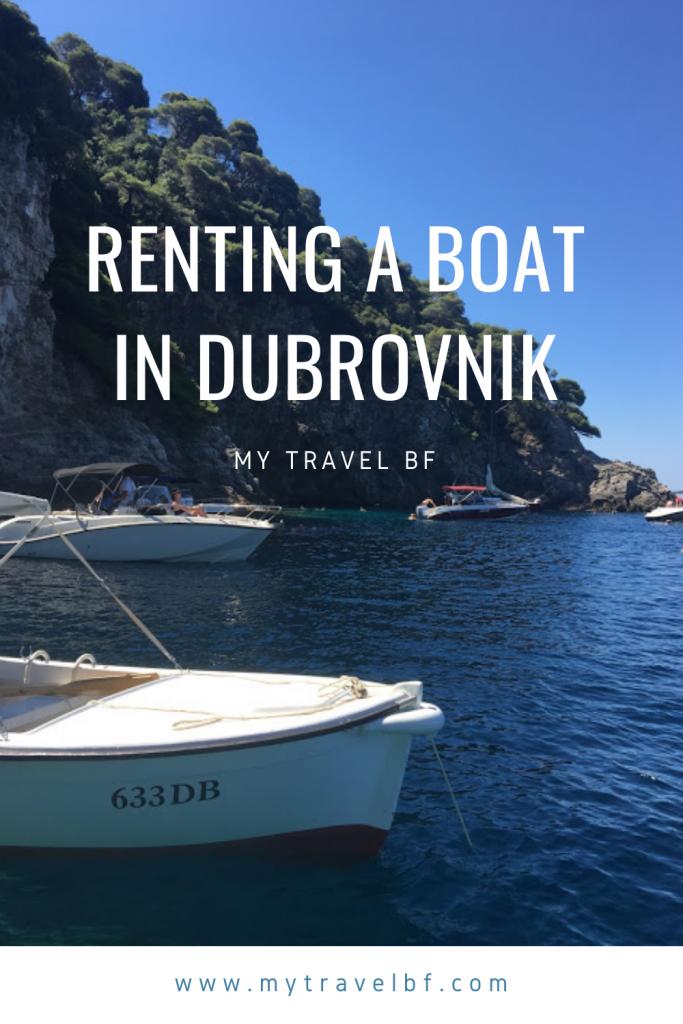Renting a Boat in Dubrovnik