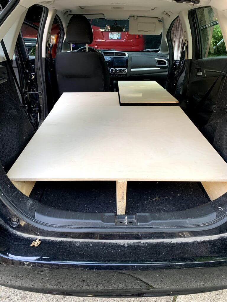 Honda Fit Bed Frame Camping