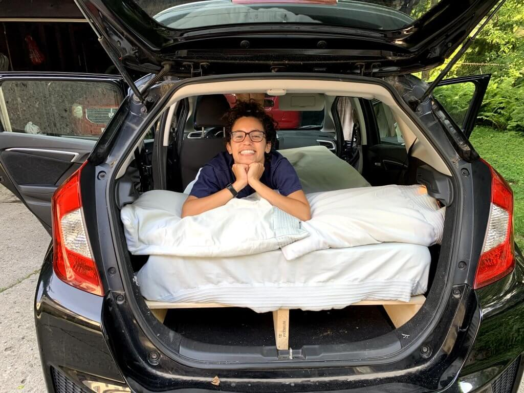 Conversion Honda Fit for camping