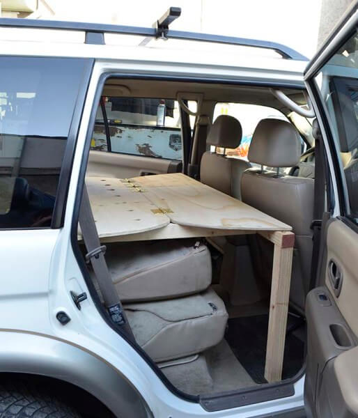 Easy car conversion for camping