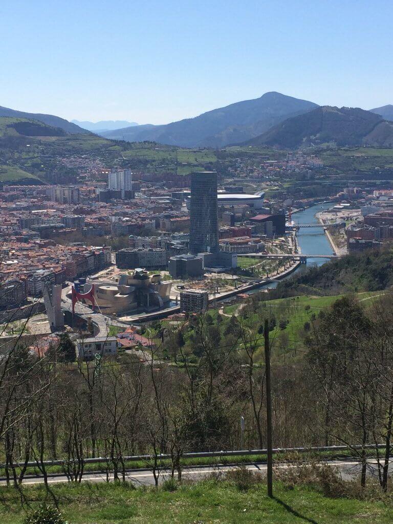 View from Mount Artxanda Bilbao