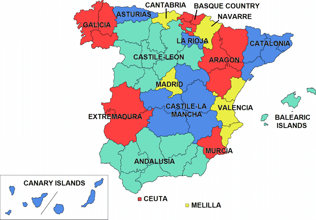 Regions of Spain Where to Live