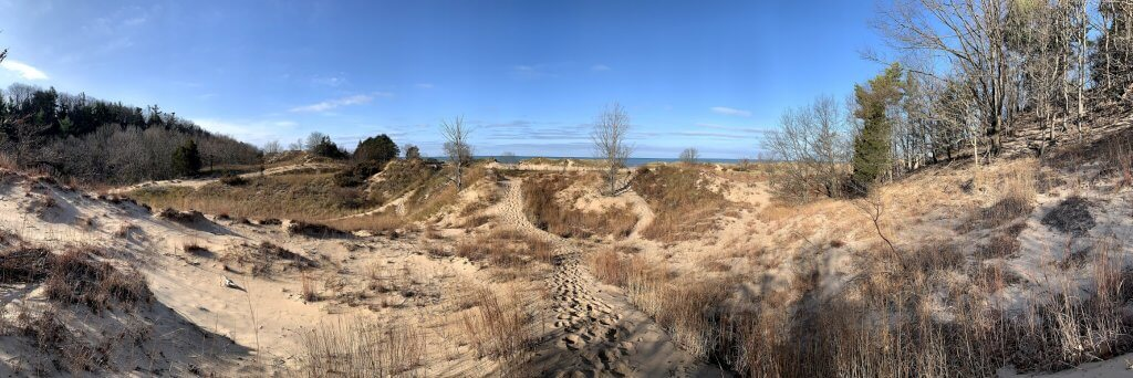 Hiking in Saugatuck
