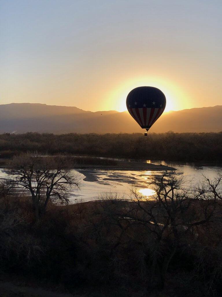 Riding in a Hot Air Balloon New Mexico
