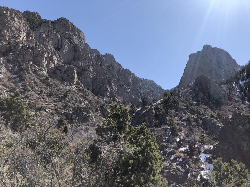 Sandia mountains hiking