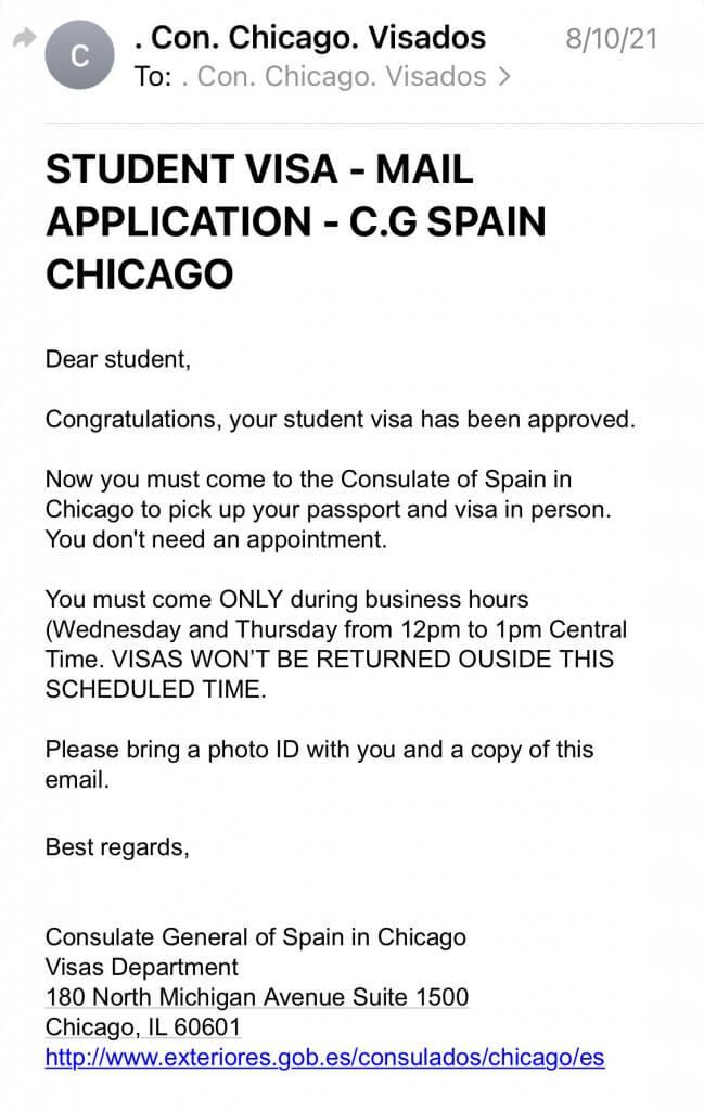 Student Visa Chicago Consulate of Spain