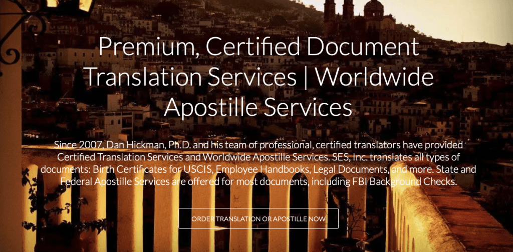 Apostille and Background Check Translation