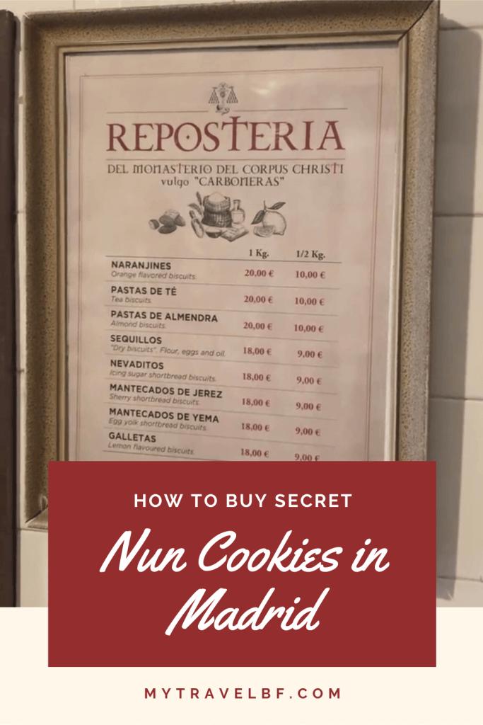 How to Buy Secret Nun Cookies in Madrid